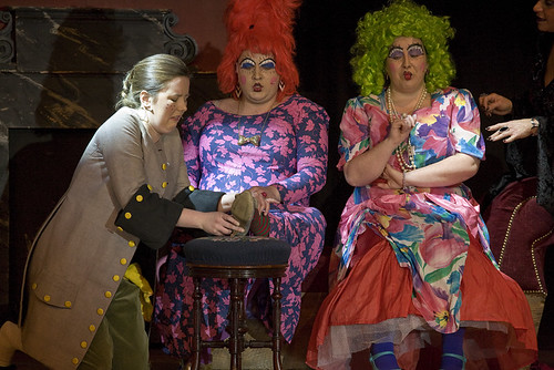 Leitherella Panto - The Uglies try on the slipper. Photo © David Morrison <a href=