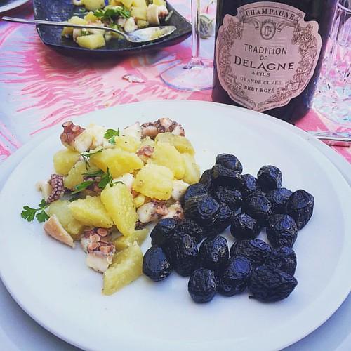 Polpo e patate e oliva infornata di ferrandina made by Antares #food #foodporn #basilicata #mangiolucano #champagne