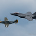F-35 Heritage Flight with the old P-51 Mustang at Chicago Air and Water Show. by Natasha J Photography