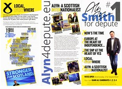 Vote Alyn Smith for Depute Leader of the SNP leaflet, 2016