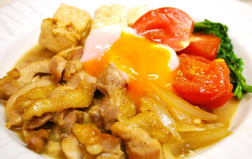 Chicken Sukiyaki with Tomato