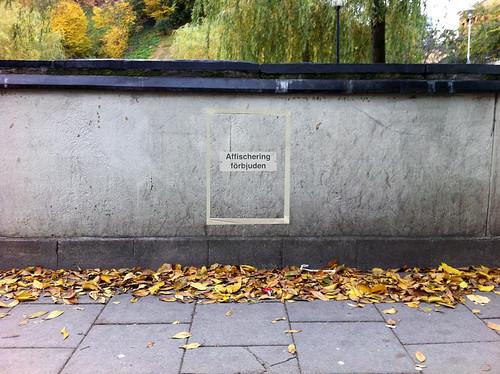 Affischering verboten