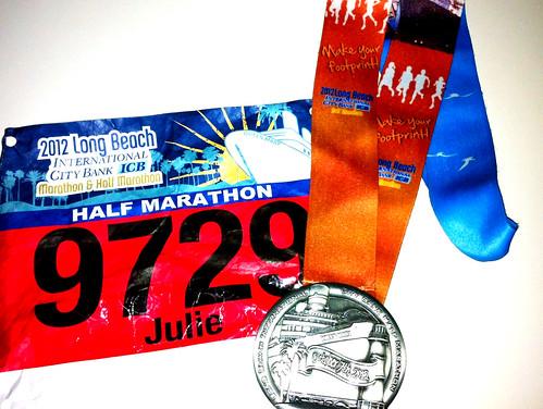 Long Beach ICB Half Marathon 2012 Medal