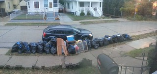 38 bags of garbage
