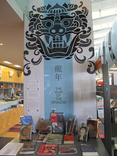 Year of the Dragon display at New Brighton Library.