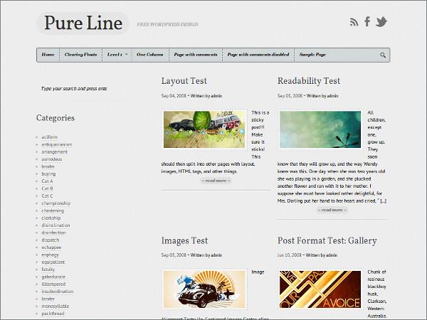 Pure Line Free WordPress Theme