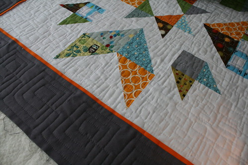 Bursting Star - Quilting