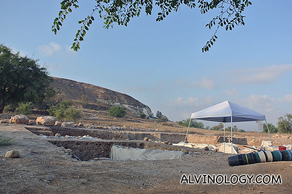 The excavation site which we visited