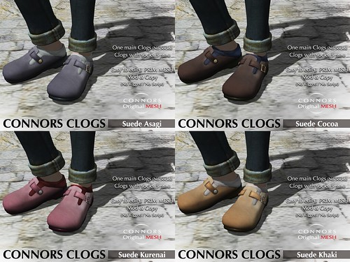 Clogs suede
