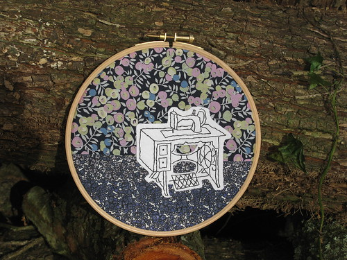 MSM2 Liberty Fabric Vintage Embroidery Hoop