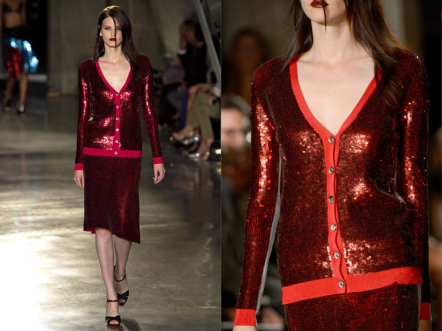 DIY Inspo: red Sequin Cardigan | A Pair & A Spare