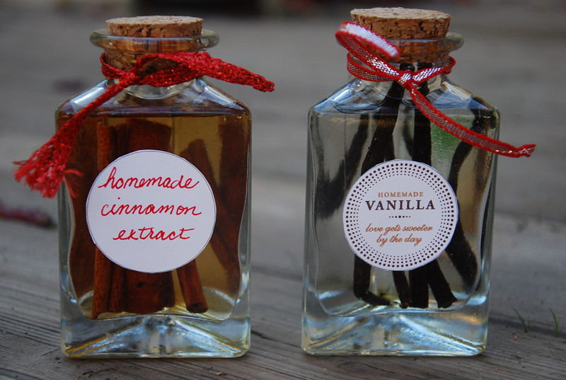 homemade vanilla and cinnamon extract