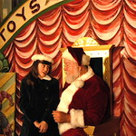"Arvada Center Miracle on 34th St Pictured Regan Fenske (Susan)_Erick Devine (Kris Kringle) 2 Photo P. Switzer 2012 - PHOTO INFORMATION IS NOTED IN TITLE INCLUDING ACTORS PICTURED AND PHOTOGRAPHER CREDIT - PLEASE INCLUDE IN ALL REPRINTS.   Based on the delightful movie classic that starred Edmund Gwenn as Kris Kringle and a young Natalie Wood, this musical version includes memorable songs such as ""Jolly Old St. Nicholas,"" ""The Holly…"