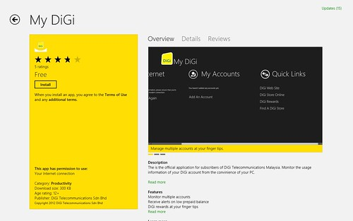 Windows 8 - Windows App Store - Digi OCS