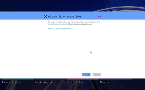 Windows 8 Flickr Photo