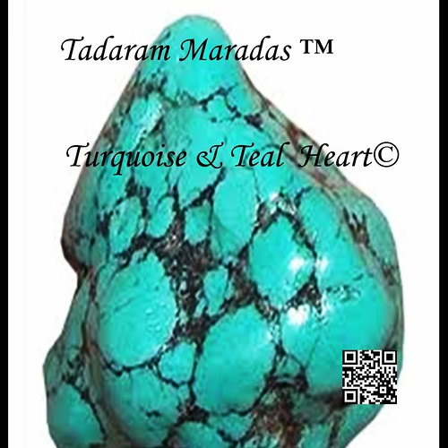 Turquoise and Teal Heart by Tadaram Alasadro Maradas