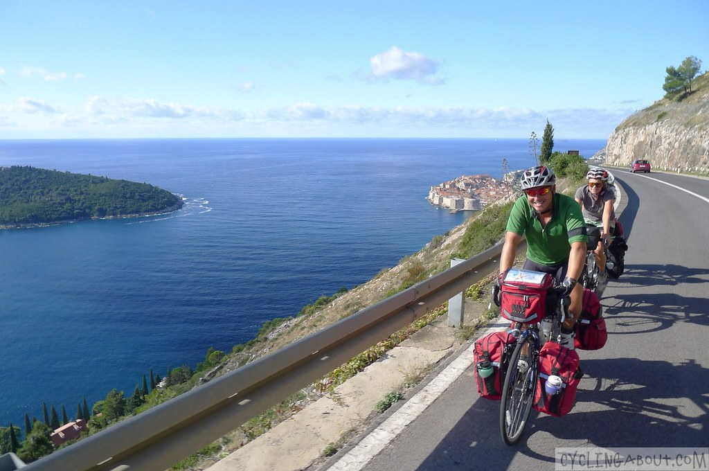 Climbing up a hill in Dubrovnik