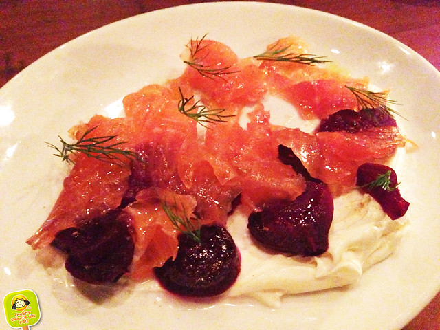 Hillside - smoked salmon and beets