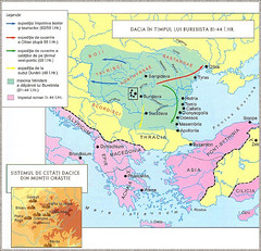 DACIA -  Dacian territories under King getic-dacian -Burebista ( 81-41-BC )