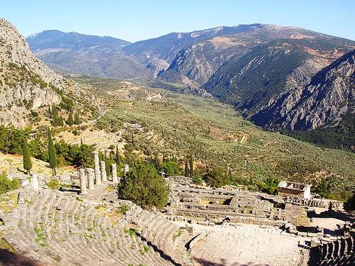 archaeology monument europe mediterranean delphi greece grecia griechenland grece delphes grekland delfi δελφοί