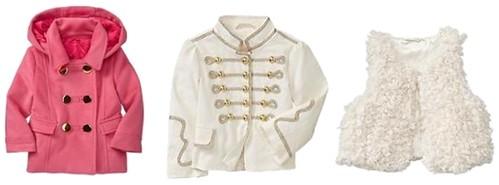 Coat, Jacket and Vest for Toodler Girls