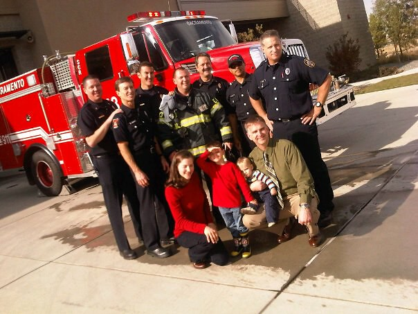 Station 43 With  4 Year Old Soren