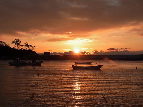 sea sun japan sunrise 海 miyagi 宮城 日の出 夜明け minamisanriku 南三陸町 sodehama 袖浜