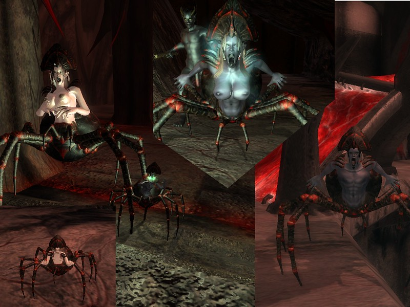Oblivion sexualized monsters.