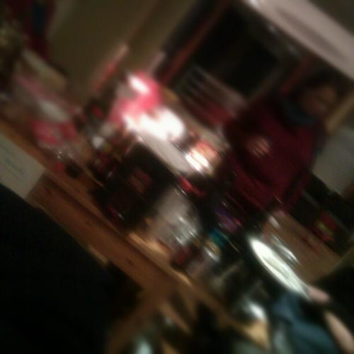 Wazige foto van een wazig feestje :-)