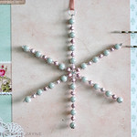 Handmade Beaded snowflake