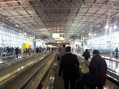 Arrivée à l'aéroport de Bruxelles