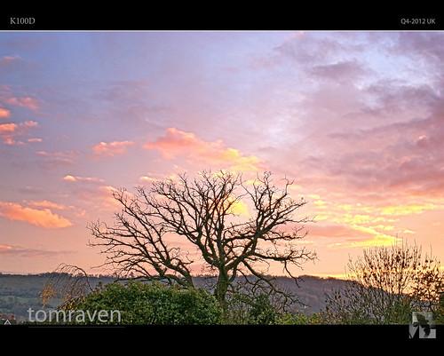 autumn sunset sky sun tree clouds pentax cheltenham hdr k100d tomraven aravenimage rememberthatmomentlevel1 rememberthatmomentlevel2 q42012