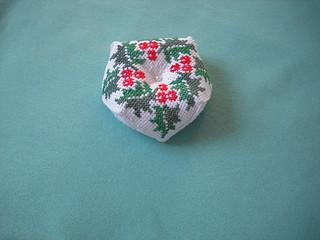 Biscornu de ponto cruz - Biscornu cross stitch