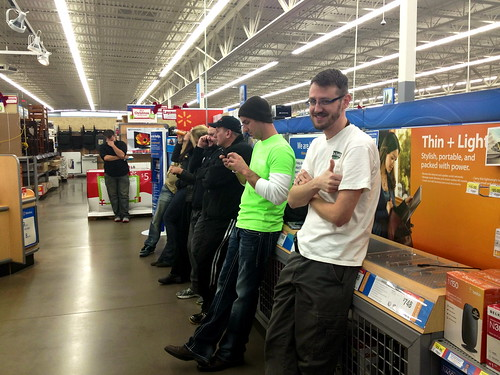Waiting in line for the WiiU