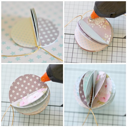 Pretty paper bauble -steps 5-8