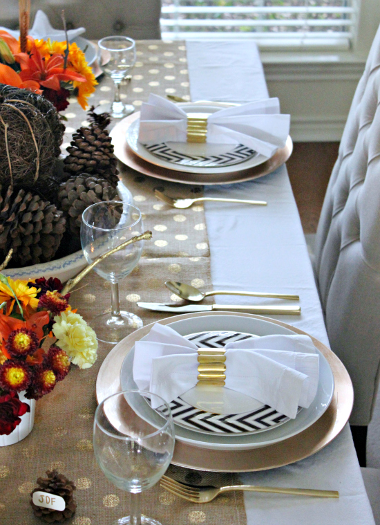 Natural & Glam Fall table