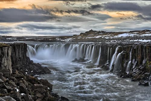 longexposure sunset canon waterfall iceland cloudy dettifoss horseshoefalls 70200mm selfoss 5dmarkiii singhraylbpolarizer f4leegraduatedndfilter
