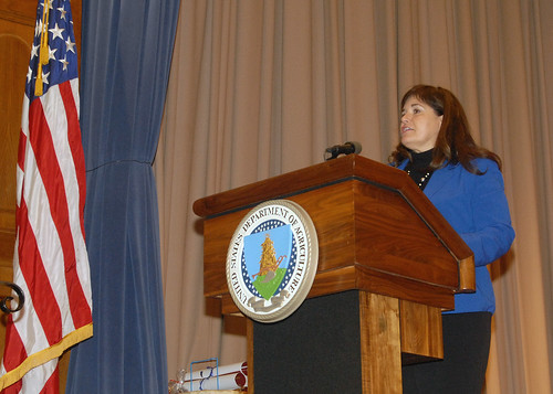 National Congress of American Indians (NCAI) Executive Director Jacqueline Pata is the keynote speaker at USDA's Native American Heritage Month Observance in the Jefferson Auditorium at the USDA South Building in Washington, D.C. on Tuesday, Nov. 20, 2012.