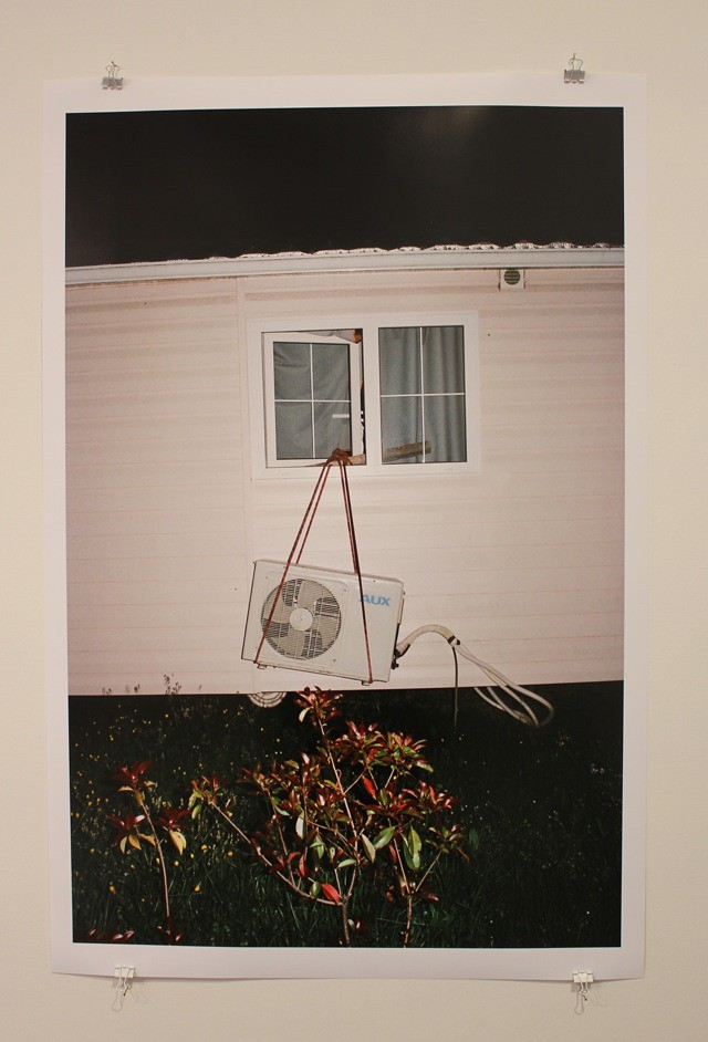 """""""Straw House"""" by Maxime Ballesteros, at Galerie Mikael Andersen, Berlin; photos by artfridge"""