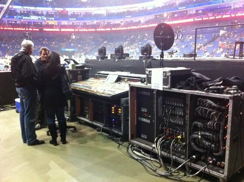 Backstage before the Elton John concert