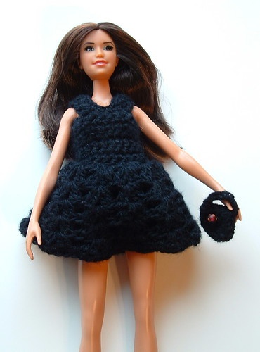 Barbie Little Black Dress with Handbag