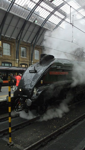 Steam train at King's Cross
