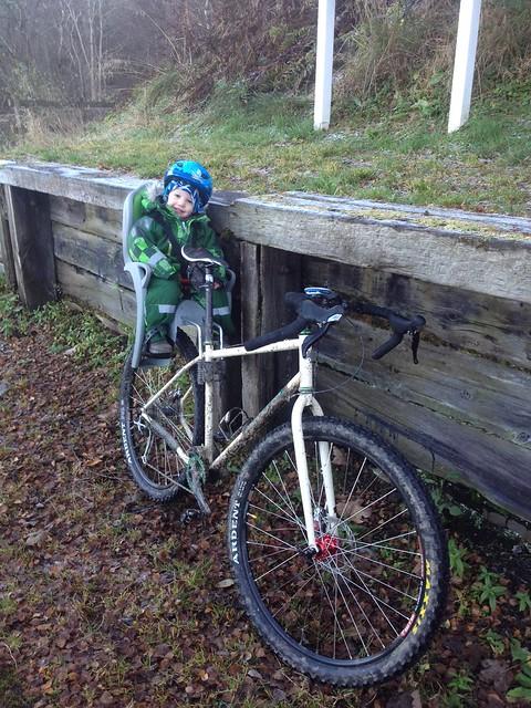 Harry loving some bike time