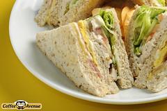 sandwich, meal, breakfast, bread, baked goods, meat, pã¢tã©, food, dish,