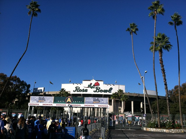 Sunny day at the Rose Bowl