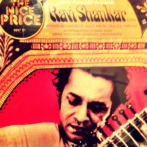 The sounds of India with Ravi Shankar on CD no less.