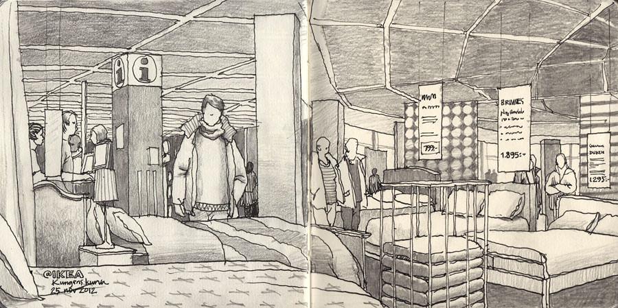 Sketching At Ikea Urban Sketchers