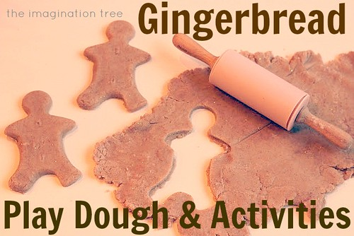 Gingerbread Play Dough and Activities (Photo from The Imagination Tree)