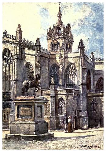 012-Iglesia de San Gil desde los juzgados-Edinburgh, painted by John Fulleylove- 1904