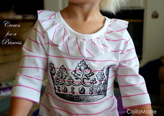 Crown Tee for a little princess